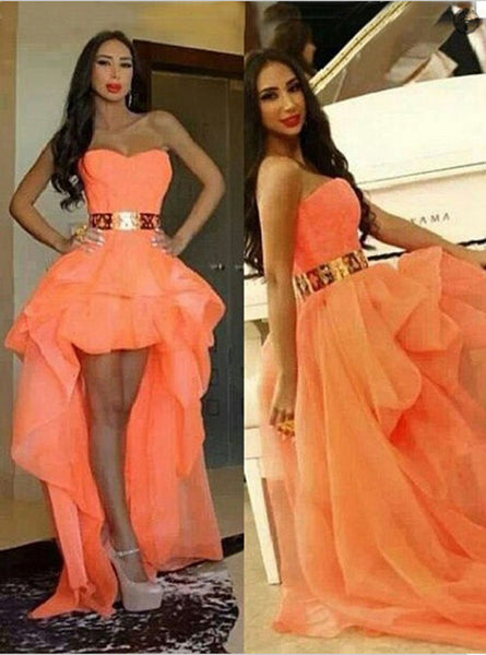 High Low Homecoming Dress Sweetheart Style