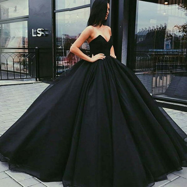 Prom Dress Strapless Evening Dress Tulle Simple Custom Dresses