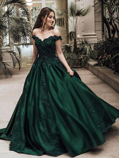 Evening Dresses Satin Appliques Prom Dresses For Women