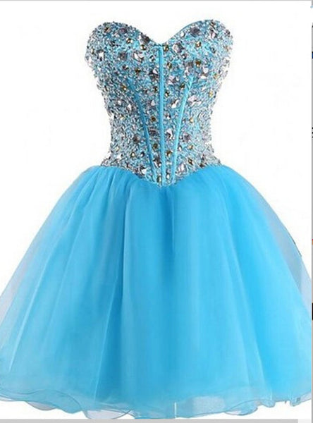 Beaded Homecoming Dress Sweetheart Style