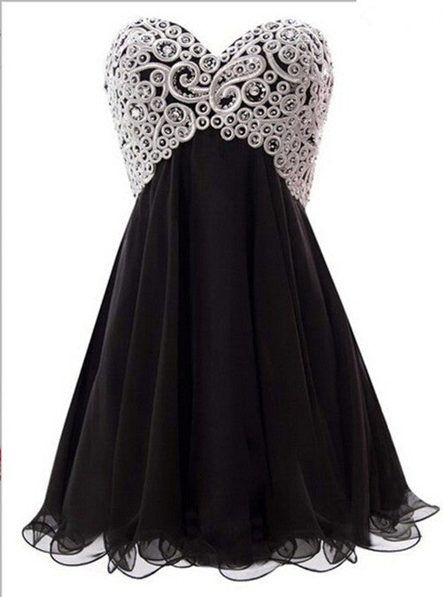 Lace Black Homecoming Dress