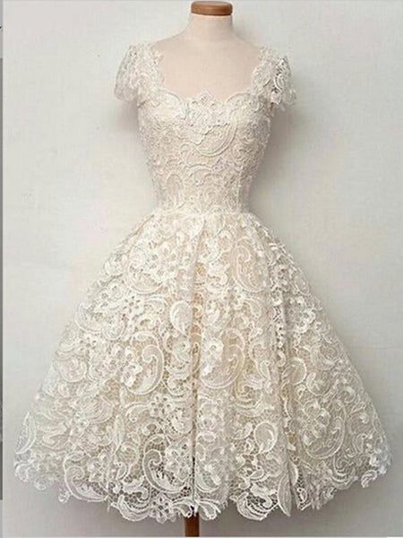 Ivory Lace Homecoming Dress Bridesmaid Dresses