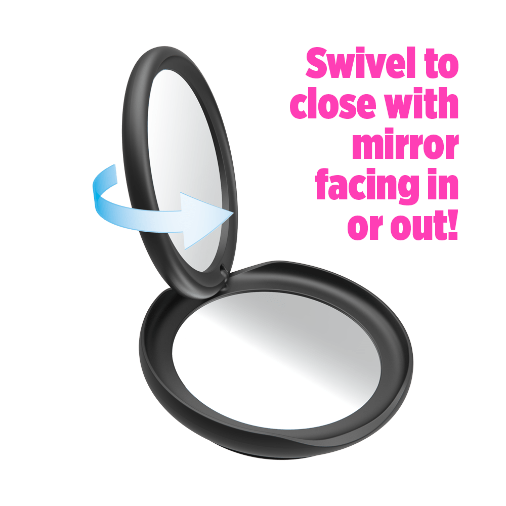 Just the Top PopGrip Mirror Black (802013), PopSockets