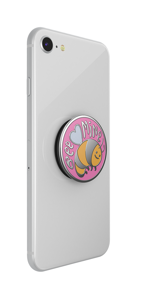 PopGrip Enamel Bee Mine Pink (801497), PopSockets