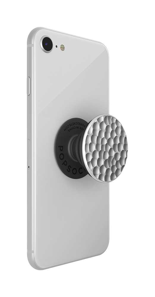 PopGrip Hammered Metal Silver (800922), PopSockets