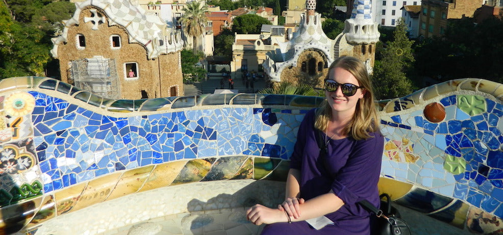 NZ designer dress worn in Barcelona