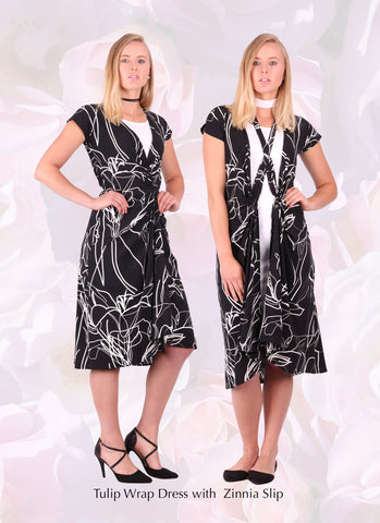 multi-wear wrap dress from fashion designer Desiree