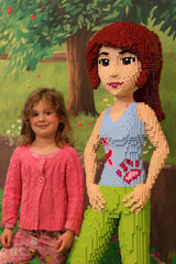 Aria Turner with large Lego Friend