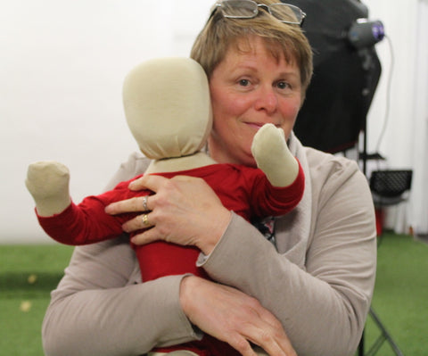 Mum and a Baby mannequin get cuddly at desiree fashion photo shoot