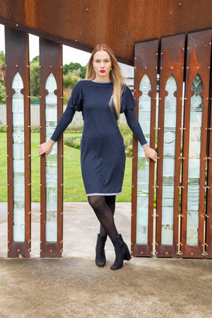 Amber Dress - Long sleeve organic cotton knit
