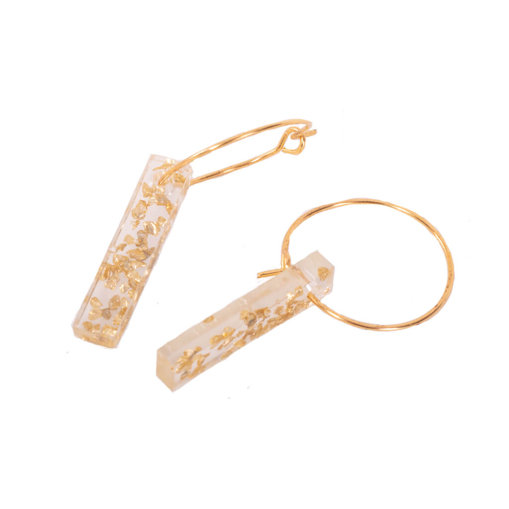 Nina Gold Speckle Earrings