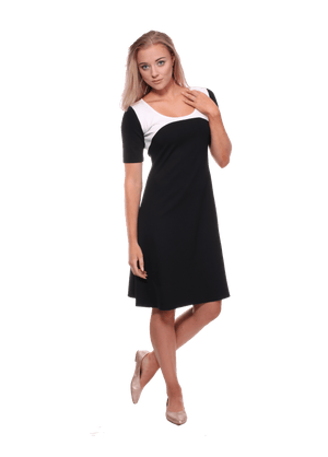 monochrome ponti knit ladies dress
