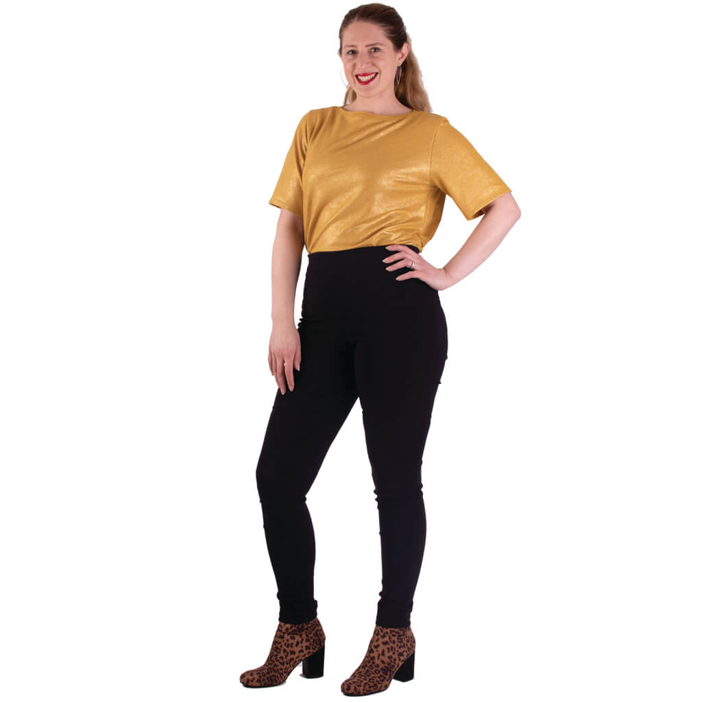 comfortable stretch trouser with elastic waist