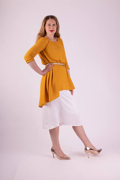 Aquarius Top - Long Sleeve Drop hem