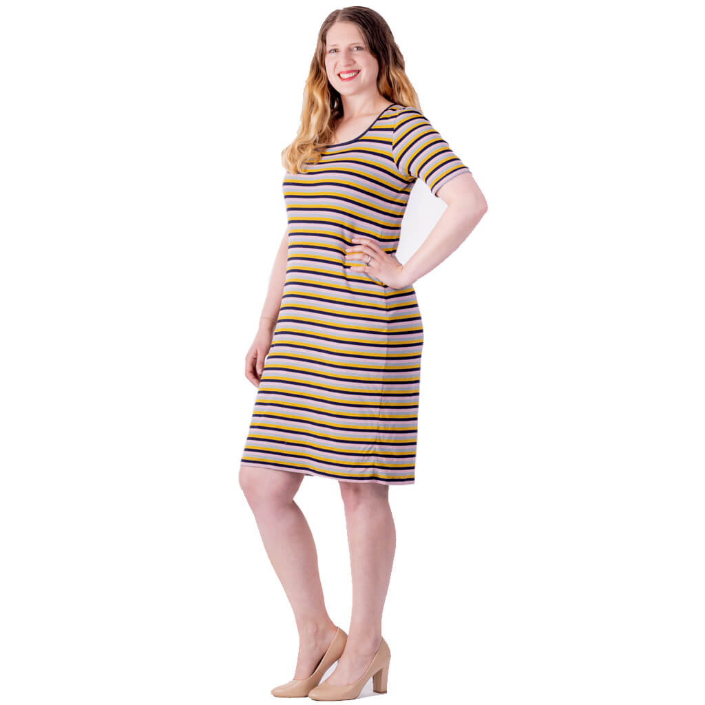 multi colour stripe rib dress by kiwi designer desiree