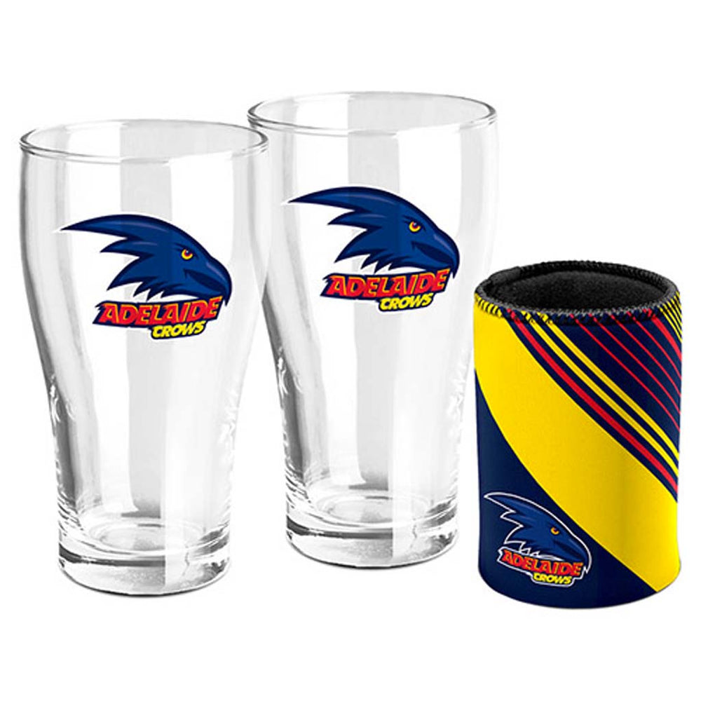 Adelaide Crows Pint Glass and Can Cooler