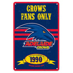 Adelaide Crows Retro Metal Sign