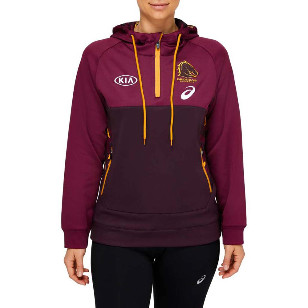 Brisbane Broncos 2021 Team Hoodie - Ladies