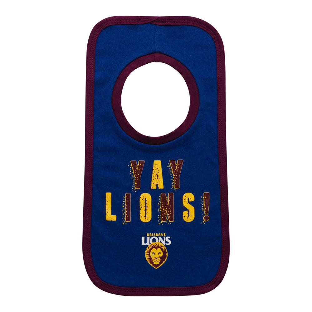 Load image into Gallery viewer, Brisbane Lions Babies Bib Set
