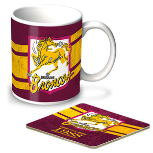 Load image into Gallery viewer, Brisbane Broncos Heritage Mug and Coaster