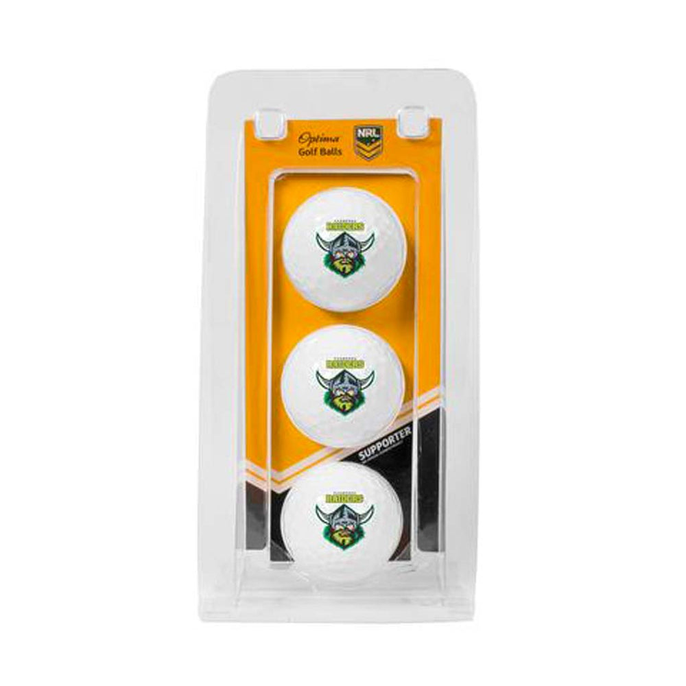 Canberra Raiders NRL Golf Balls 3 Pack