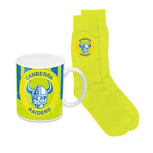 Load image into Gallery viewer, Canberra Raiders Heritage Mug and Socks Pack