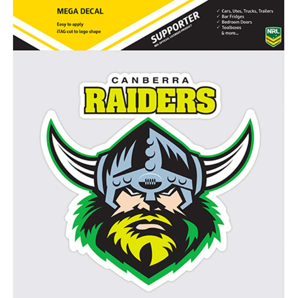 Canberra Raiders Mega Decal Sticker