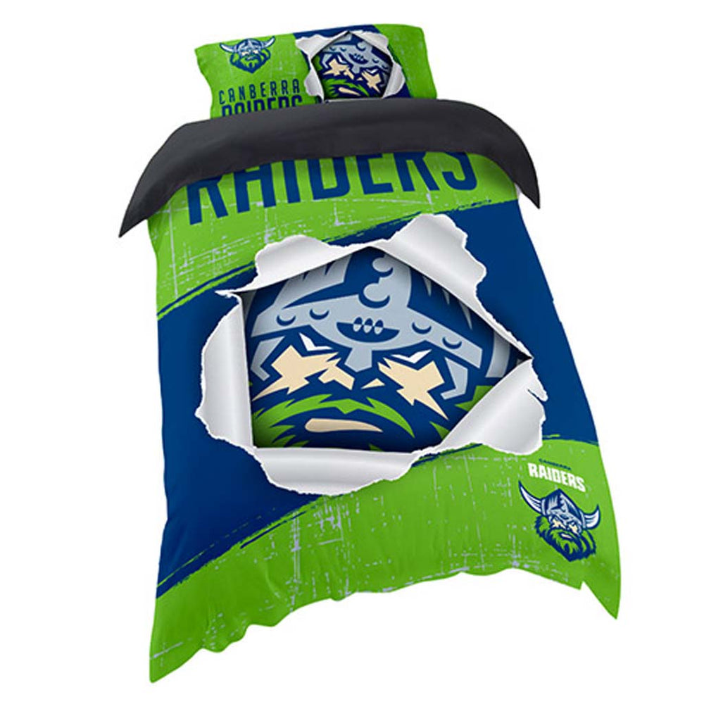 Canberra Raiders Single Quilt Cover Set