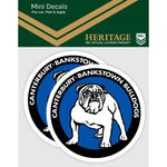 Canterbury Bulldogs Heritage Mini Decals