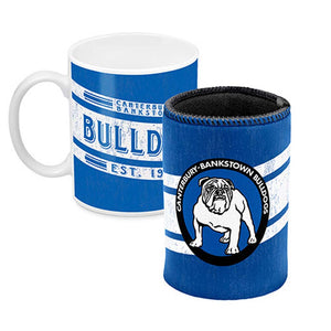 Canterbury Bulldogs Mug and Can Cooler Gift Pack