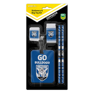 Load image into Gallery viewer, Canterbury Bulldogs Stationery Set and Bag Tag