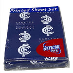 Carlton Blues Printed Sheet Set Single
