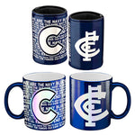 Carlton Blues Metallic Can Cooler & Mug