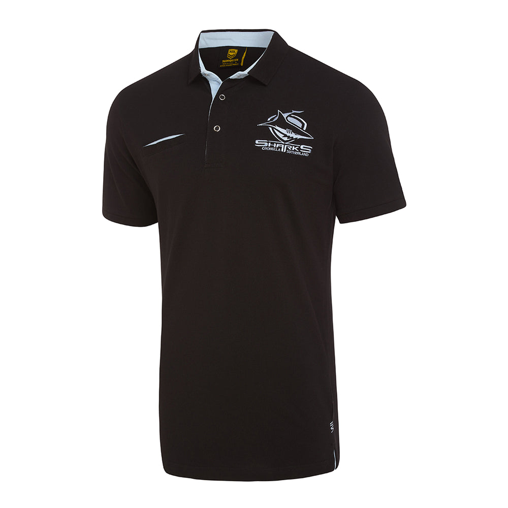 Load image into Gallery viewer, Cronulla Sharks 2018 Supporter Knitted Polo