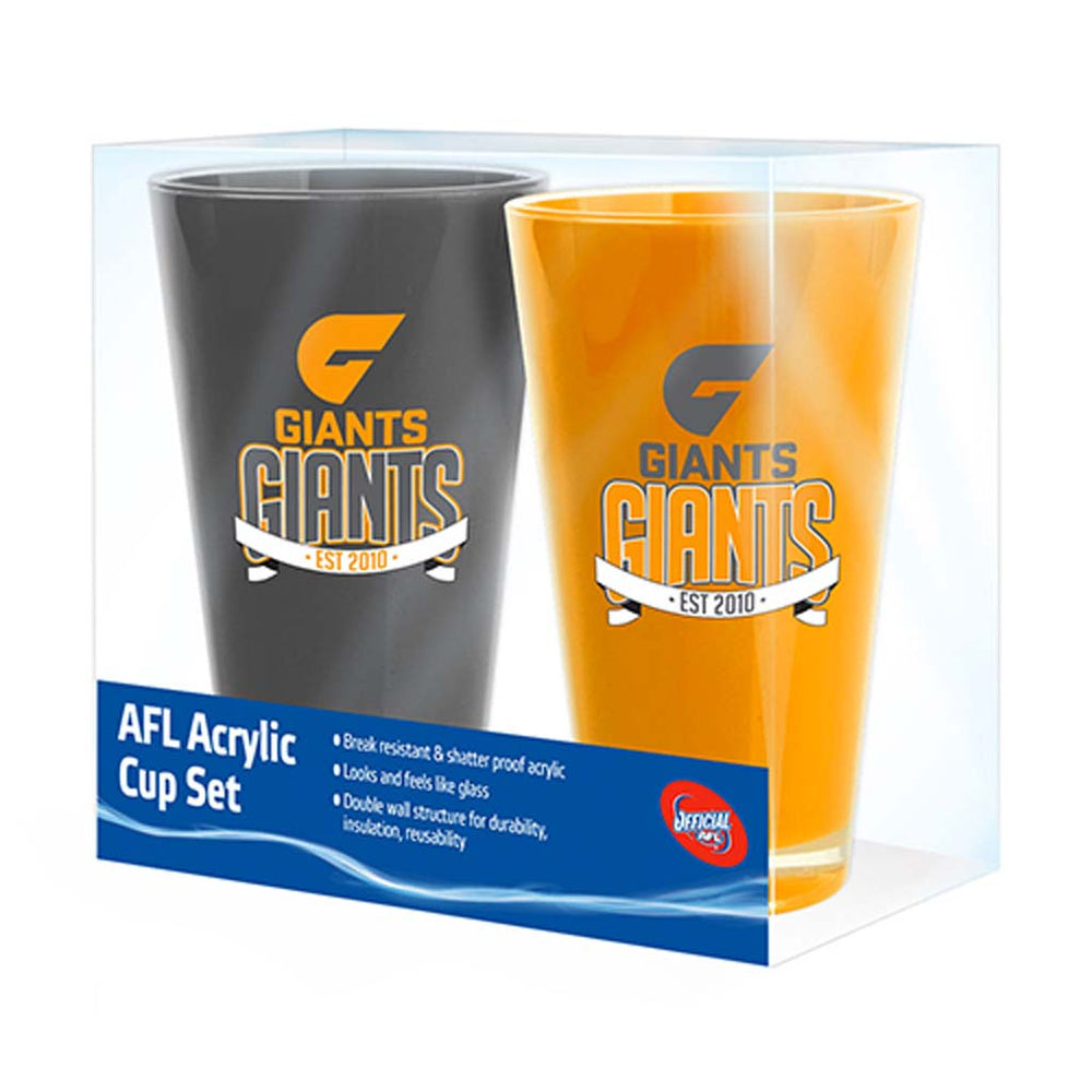 Load image into Gallery viewer, GWS Giants Acrylic Cup Set