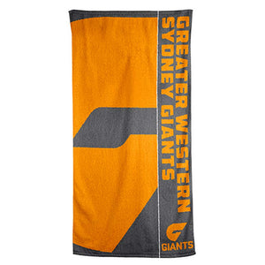 Load image into Gallery viewer, GWS Giants Beach Towel