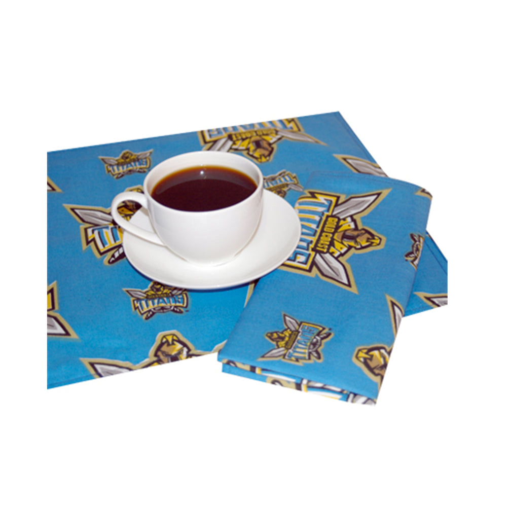 Gold Coast Titans Set of 4 Placemats