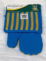 Gold Coast Titans Oven Mitt and Pot Holder Set