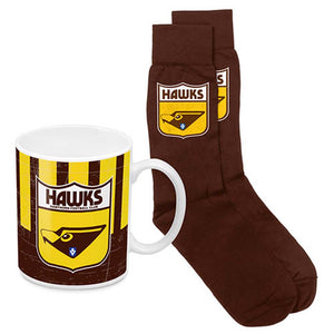 Load image into Gallery viewer, Hawthorn Hawks Heritage Mug and Socks Pack
