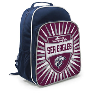 Manly Sea Eagles Kids Shield Backpack