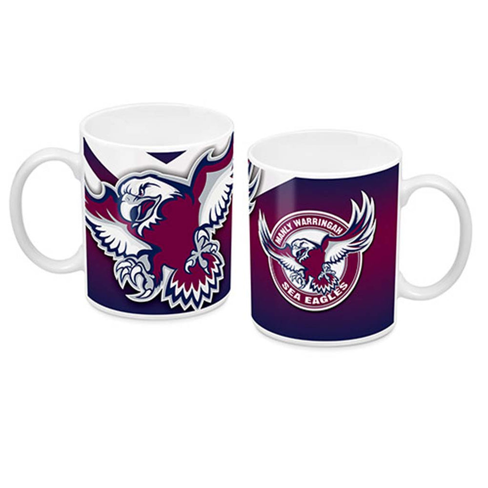 Load image into Gallery viewer, Manly Sea Eagles Ceramic Mug