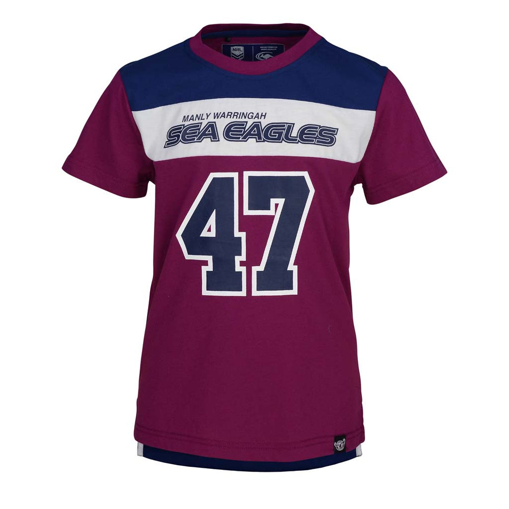 Load image into Gallery viewer, Manly Sea Eagles Lifestyle Kids Tee