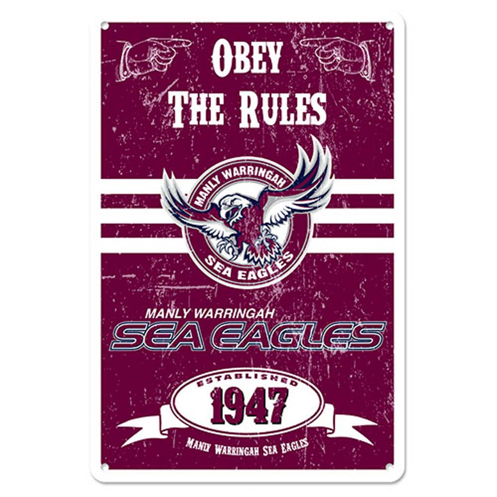 Manly Sea Eagles Retro Metal Sign
