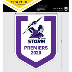 Load image into Gallery viewer, Melbourne Storm 2020 Premiers Mega Decal Sticker