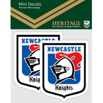 Newcastle Knights Heritage Mini Decals