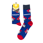 Newcastle Knights Large Logos Sock - 1 Pair