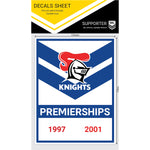 Newcastle Knights Premiership Years Decals