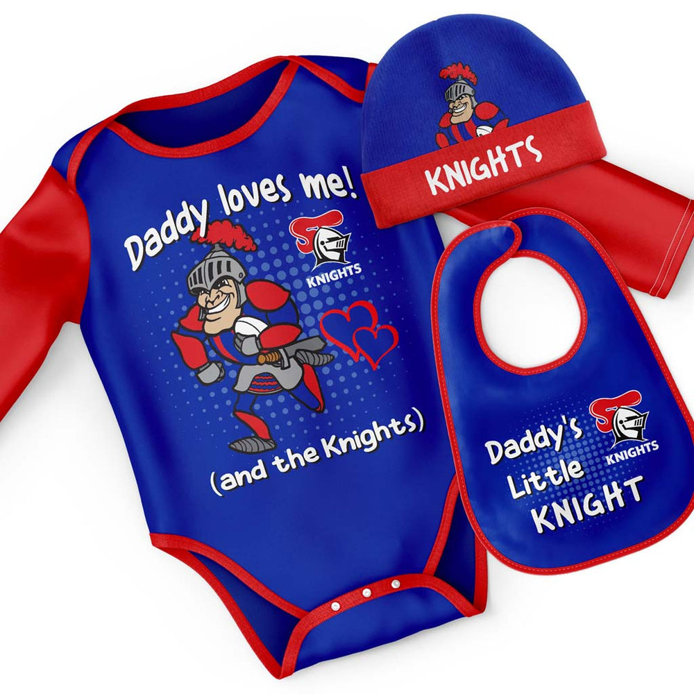 Newcastle Knights Bodysuit 3-Pack