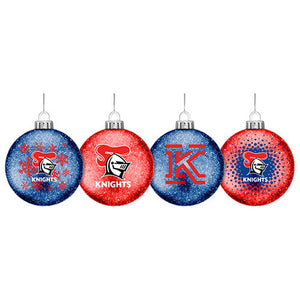 Newcastle Knights Glitter Baubles Set