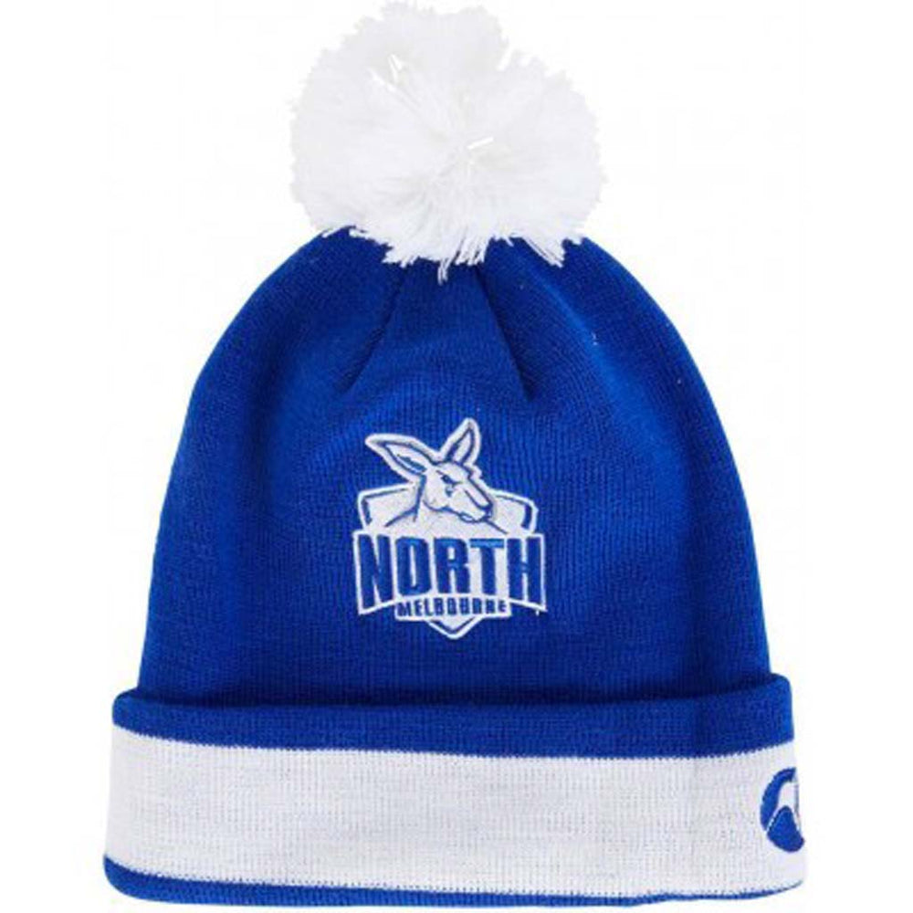 Load image into Gallery viewer, North Melbourne Kangaroos Pom Pom Beanie